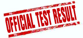Your Official Test Result